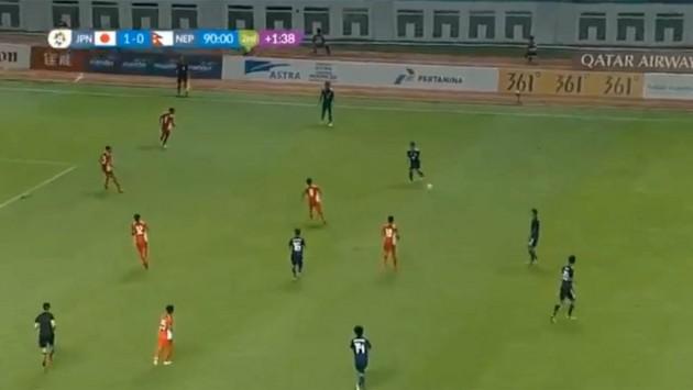 एसियाडमा नेपाल जापानसँग १-० गोलले पराजित