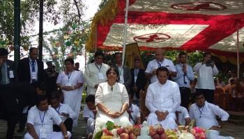 लुम्बिनी भ्रमण गरी काठमाडौं फर्किए श्रीलंकाका राष्ट्रपति सिरिसेना